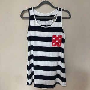 Red, White, and Blue Pocket Bow Racerback Tank